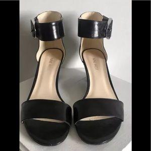 Nine West Ankle Strap Sandals Black Size 8M